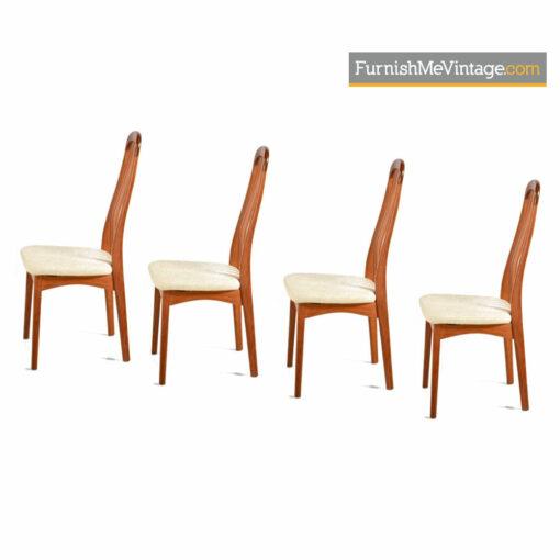 Benny Linden Teak Dining Chairs - Danish Modern Set of (4)