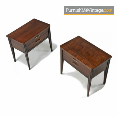 Broyhill Saga Nightstand End Tables - Mid Century Modern