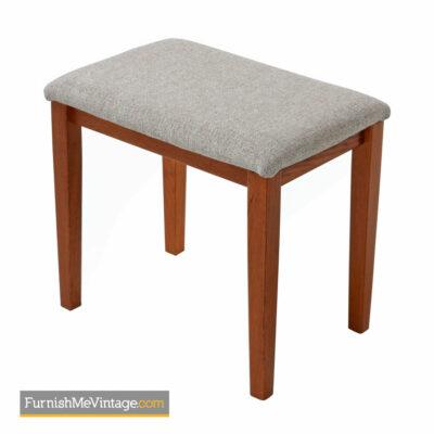 Danish Teak Stool by FBJ Mobler - Upholstered Bench