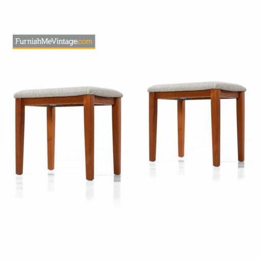 Danish Teak Stool by FBJ Mobler - Upholstered Bench