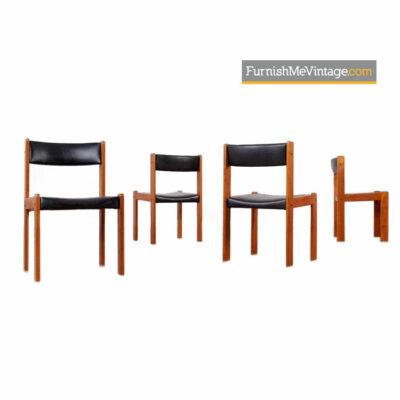 Farso Teak Dining Chairs - Vintage Danish Modern