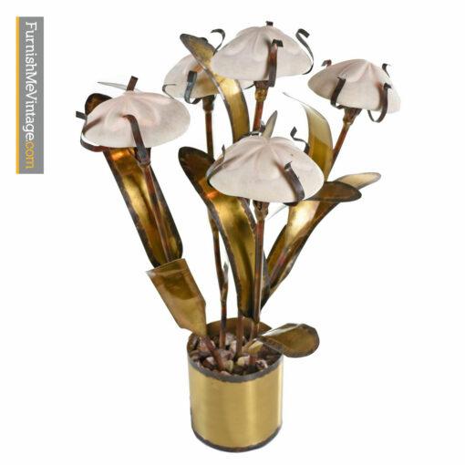 Sea Urchin Table Lamp - Brutalist Fantasy Jere Style Sculptural Metal
