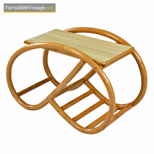 Pretzel Rattan Frankl Style Side Table Set with Formica Tops