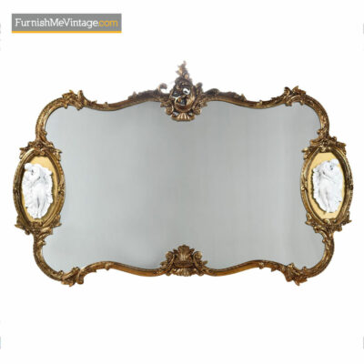 Baroque Mirror - Hollywood Regency Gold Gilt Wood