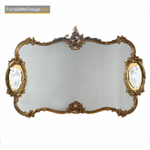 Baroque Mirror - Hollywood Regency Gold Gilt Wood