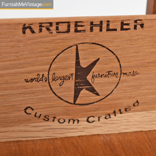 Kroehler Dresser - Danish Moder Walnut Gentlemans Chest