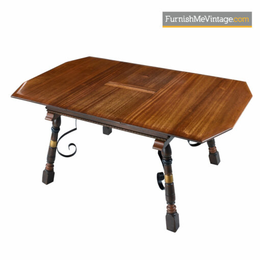 Neo Gothic Revival Mahogany Dining Table - Game of Throwns Style