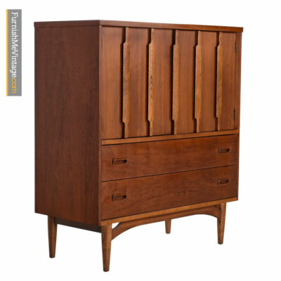 Kroehler Dresser - Danish Moder Walnut Gentlemans Chest
