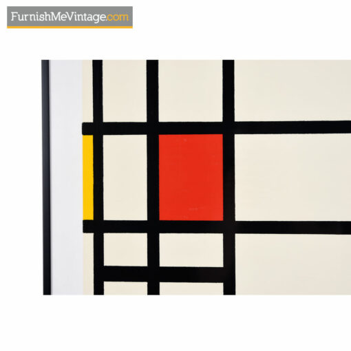 """Piet Mondrian framed museum print titled """"Trafalgar Square"""" with a slim, low-profile black frame, fun colorful blocks and an iconic design."""