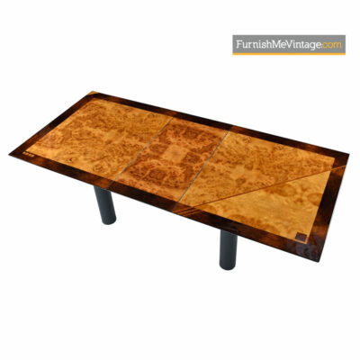 Oscar DellArredamento Burl Maple Rosewood Italian Modern Dining Table by Miniforms