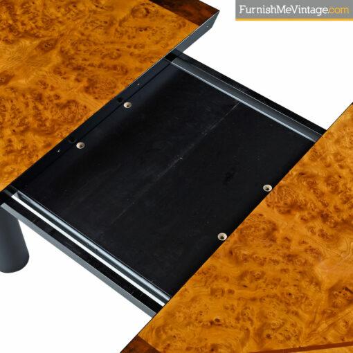 Oscar DellArredamento Burl Maple Rosewood Italian Modern Dining Table by Miniforms