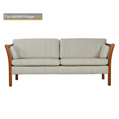 Stouby Settee Sofa Fully Restored - Danish Modern Teak