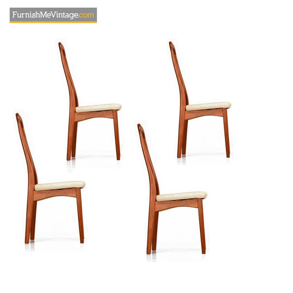 Benny Linden Teak Dining Chairs Danish Modern Set Of 4