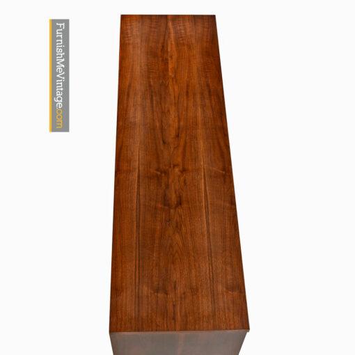 Bassett Dresser Credenza - Mid Century Modern Walnut & Brass
