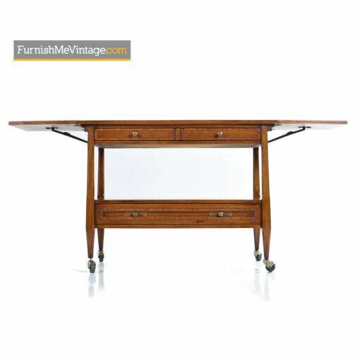 Walnut Bar Cart Server by White Furniture - Mid-Century Modern