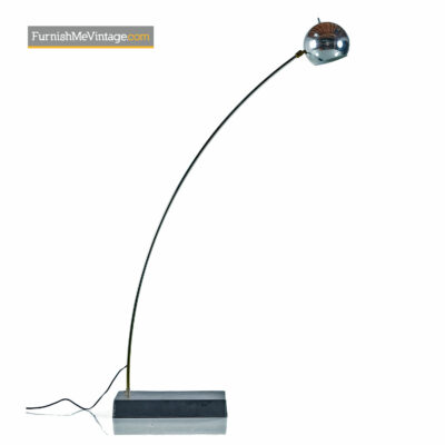 Chrome Arc Lamp - Mid Century Modern Floor Lamp