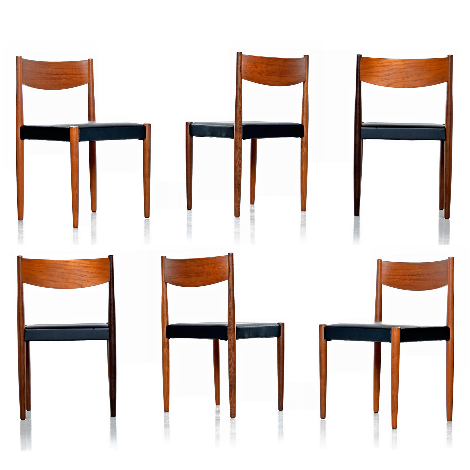 Cool Danish Modern Rosewood Teak Dining Chairs Bralicious Painted Fabric Chair Ideas Braliciousco