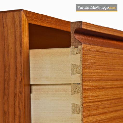 Danish Teak Highboy Dresser Chest of Drawers - Vintage Modern