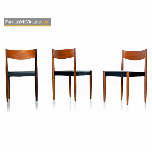 Mid-Century Danish Modern Rosewood And Teak Dining Chairs
