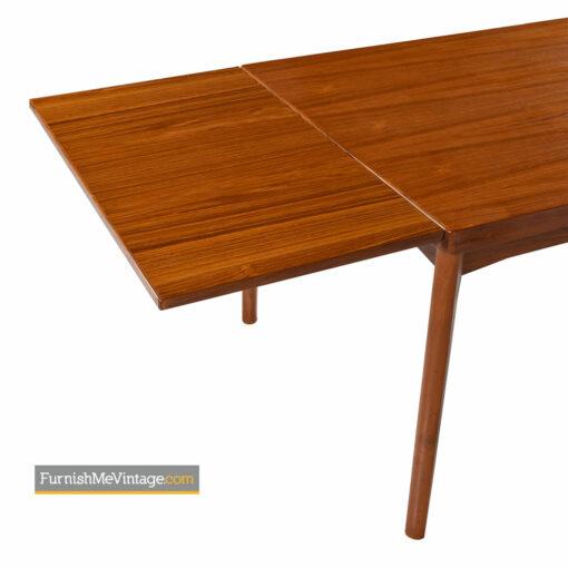 Henning Kjaernulf for Vejle Stole Dining Table - Danish Modern Teak Draw Leaf Style