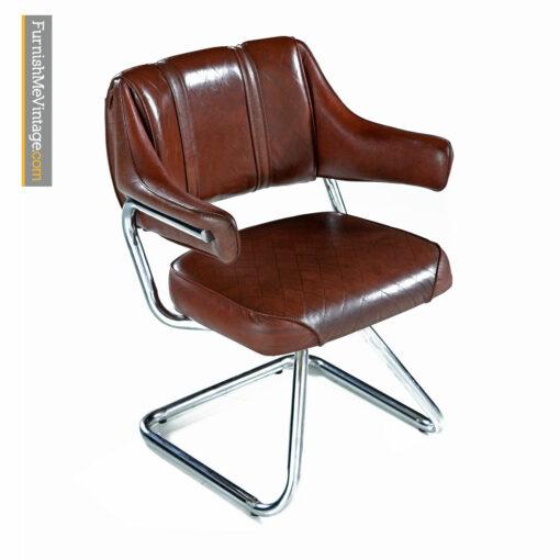 Howell Chrome Dinette Chair Set of Four - Vintage Modern