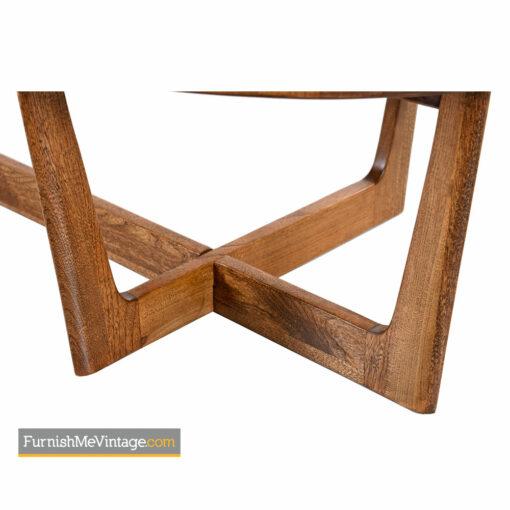 Amoeba Coffee Table - Solid Oak Walnut Boomerang Freefrom Design