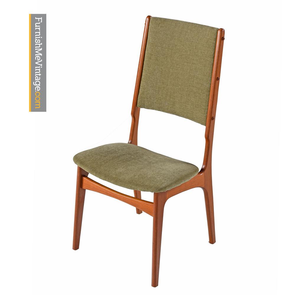 scandinavian modern teak high back dining chairs set of 6. Black Bedroom Furniture Sets. Home Design Ideas