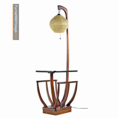 Retro Magazine Rack Spaghetti Goop Globe Floor Lamp