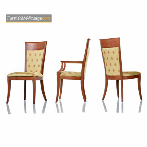 Sibau Highback Cherry Dining Chairs - Made in Italy