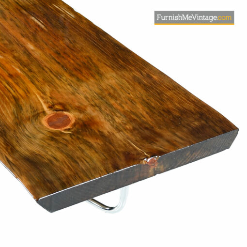 Spalted Pine Coffee Table Bench - Rustic Live Edge Slab