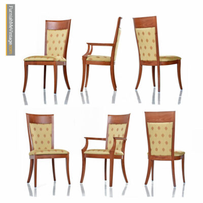 Sibau High Back Cherry Dining Chairs - Made in Italy