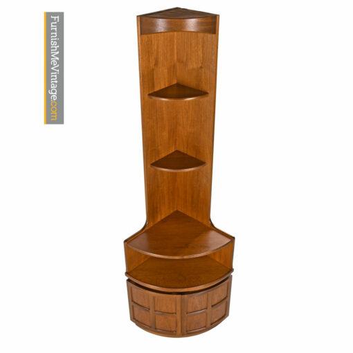 Teak Corner Cabinet Bookcase Bar by Nathan Furniture