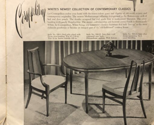 Cane Back Dining Chairs by White Furniture - Mid-Century Modern