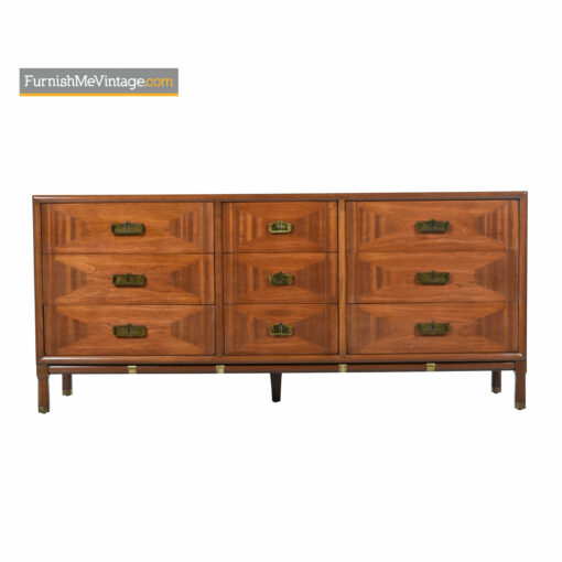 Thomasville Talisman Dresser - Eastern Campaign Style. Cherry and Olive Wood Inlays