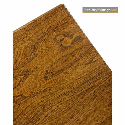 Brutalist Oak Nightstand End Tables - Mid Century Modern