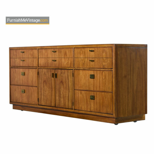 Drexel Heritage Consensus Brass Accent Pecan Campaign Dresser