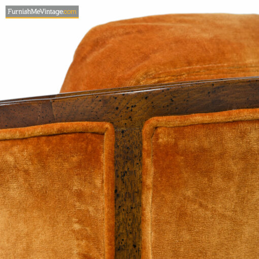 Drexel Heritage Club Chairs - Persimmon Sunset Velvet