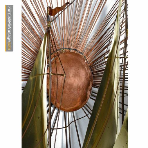 Suat Gurtan Metal Sailboat Sunburst Wall Sculpture Art