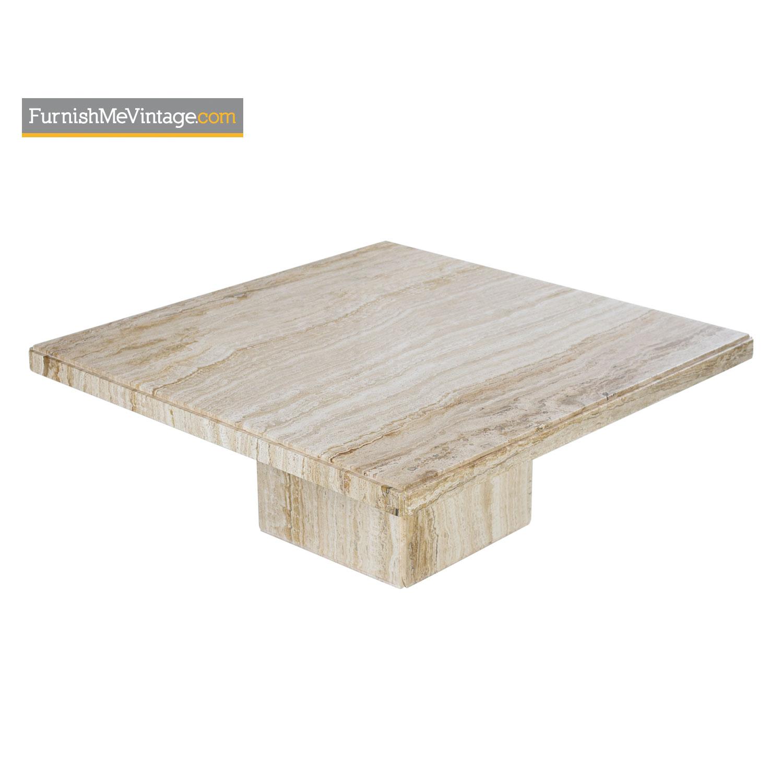 Sensational Stone Travertine Pedestal Coffee Table 1970S Modern Ncnpc Chair Design For Home Ncnpcorg