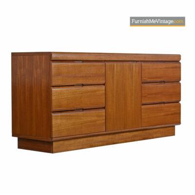 Danish Modern Dresser Credenza by Sun Cabinet