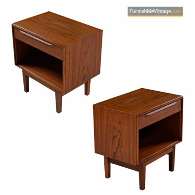 Kofod Larsen Teak Nightstands for Fredericia Moblefabrik of Denmark