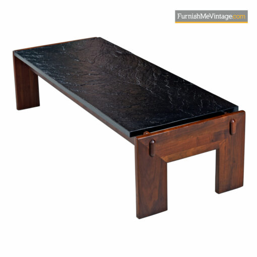 Adrian Pearsall Craft Associates Slate Top Walnut Base Living Room Set