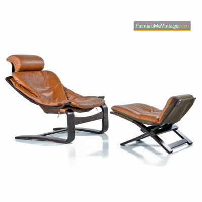 Kroken Lounge Chair & Ottoman by Ake Fribytter for Nelo