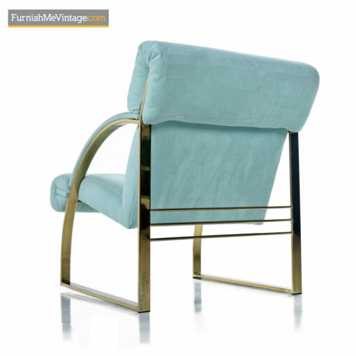 Brass Arm Chair by Carsons Fine Furniture - Hollywood Regency