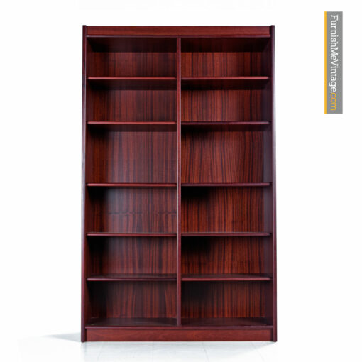 Danish Modern Rosewood Bookcase With Adjustable Shelves