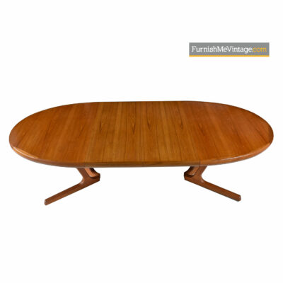 Interform Collection Danish Modern Teak Extending Dining Table