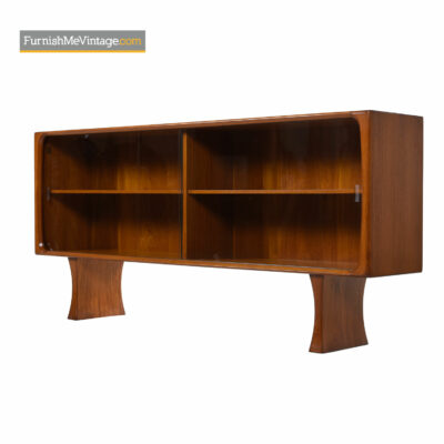 Teak Bookcase Cabinet Display Hutch by Bernhard Pedersen & Son