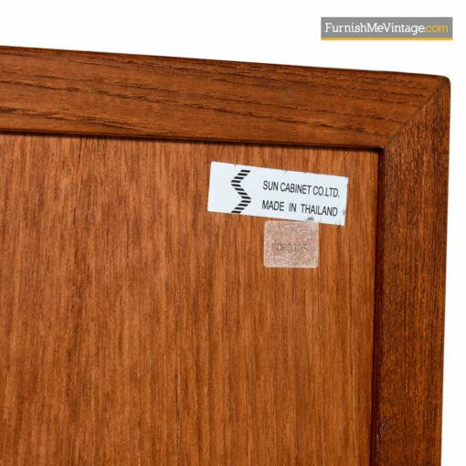 Teak Tambour Secretary Desk Bureau - Scandinavian Modern