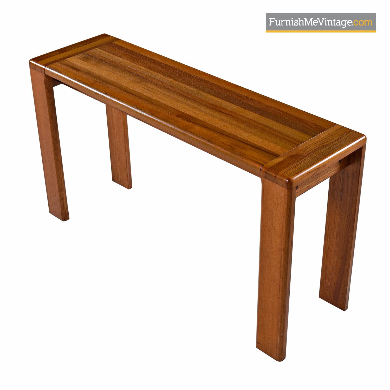 Solid Teak Console Table Danish Modern