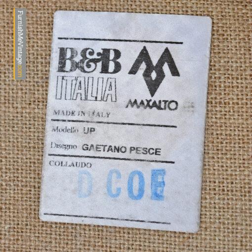 Gaetano Pesce B&B Italia UP 2000 Series Lounge Chair and Ottoman
